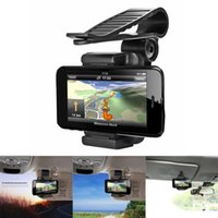 зеркало заднего вида gps оптовых-Автомобиль зеркало заднего вида смонтировать авто держатель стенд Колыбель для сотового телефона GPS универсальный новый