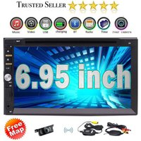 """Wholesale Wireless Rear View Cameras - Car Deck Audio Headunit&Wireless Rearview Camera 6.95"""" 2Din in Dash Car DVD Player DVD CD MP3 MP4 USB SD Radio BT Stereo"""