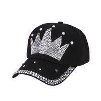 3d9394179399f mulheres bijuterias strass venda por atacado-Mulheres nova moda boné de  beisebol chapéus feitos à