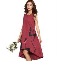 M - 6XL Vestito estivo Nuovo Vestido Abiti casual Donna Abito vintage in  lino cinese Vestito estivo da donna Taglie forti Abbigliamento donna ea2969cb150