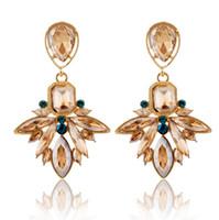 ingrosso cristalli della boemia-12 paia, orecchini stile Boemia Retro realizzati con elementi Swarovski Fine jewelry intarsiato Austria cristallo scintillante marchio non sbiadito Eardrop