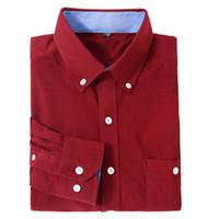 camisa de pana para hombre l al por mayor-Los hombres de pana visten camisas de manga larga para hombre Camisas Casual Slim Fit Camisa de hombre Camisas Para Hombre Ropa para hombre Vintage