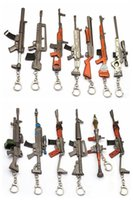 Wholesale metal lovers online - New Game Fortnite Keychain Accessories Gun Modles Battle Rifle Royale Key Chain Ring Metal Men Car Women Bag Jewelry OW YS12998