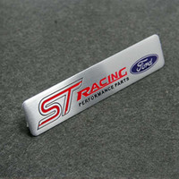 rs 3d großhandel-Für Ford Fouce Mendeo Mustang 3D Auto Motorsport ST RS Racing Leistungsteile Angetrieben durch Metall Auto Emblem Abzeichen Aufkleber mit Logo