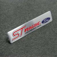r 3d logo al por mayor-Para Ford Fouce Mendeo Mustang 3D Coche Motorsport ST RS Racing Performance Partes Desarrollado por Metal Car Emblem Badge Sticker con Logo