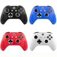 xbox controller fällen großhandel-Muti farbe anti-slip weichen silikonkautschuk haut schutzhülle haut hülle für xbox one s controller gaming zubehör