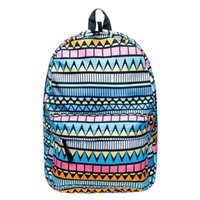 mochila de geometría al por mayor-Geometría étnica Unisex Print Mochilas Big Capacity Travel Laptop Schoolbag Estudiantes High Capacity Boys Girls Summer Backpack