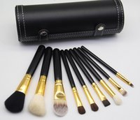 Wholesale high quality makeup brushes set - brand M Makeup Brush 9 pieces sets Professional Makeup Brush set Kit + Free makeup bag Gift High quality