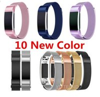 Wholesale stainless steel bracelet closures for sale - Group buy 10 COLOR Magnetic Milanese Loop Wrist strap Link Bracelet Stainless Steel Band for Fitbit Charge band men woman Adjustable Closure