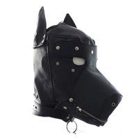 cara de máscara preta para venda venda por atacado-Brinquedos Dog Puppy Rosto Completo Máscaras Máscaras de Halloween Masquerade Partido Suprimentos Decorações de Halloween Preto Amarelo Venda Quente 40 gg