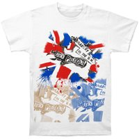 t-shirt homme sexe achat en gros de-Sex Pistols Tee shirt Anarch Two Side Hommes Grand Blanc