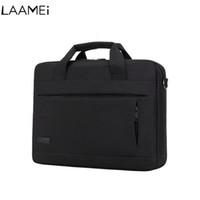 Wholesale macbook laptop white resale online - Laamei Laptop Handbag For Men Women Briefcase Travel Briefcase Bussiness Notebook Bag Macbook Pro Dell PC Large Capacity