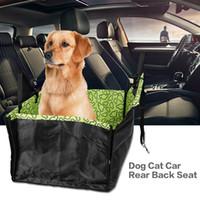 Wholesale rear car carrier online - Original Pet Dog Cat Car Rear Back Seat Carrier Cover Pet Dog Mat Blanket Cover Mat Hammock Cushion Protector