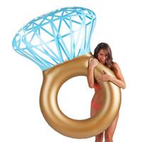 gonflable pour femmes achat en gros de-Nouveau Géant Diamant Anneau Gonflable Matelas Natation Cercle Piscine Flotteur Nager Partie Jouet Tube Raft Pour Adulte homme femmes Enfants