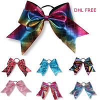 "Wholesale laser 17 - 17 colors JOJO bow 8"" Magic laser Style Hairbands Colorful Bowknot Mermaid girl hairbands Hairpin Girls Hair kids Hair bows 4th of july"