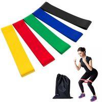 ingrosso cinture per palestra-5PCS Set Fitness Band di resistenza 5 livelli Latex Gym Strength Training Gomma Loops Bands Attrezzature per il fitness Cintura di yoga sportiva Giocattoli