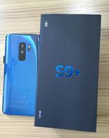 разблокированный смартфон сотового телефона android оптовых-Новое поступление goophone 9+ S 9 плюс 6.2inch разблокированный сотовый телефон Quad Core Android 6.0 1G Ram 16G Rom Show поддельные 128GB ROM Поддельные 4G LTE смартфон