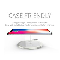 Wholesale mini plus - Qi Wireless Charger For iPhone X 8 Plus Charging Pad Mini for Samsung S6 S7 Edge Plus S8