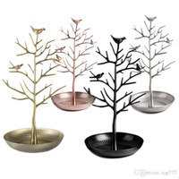 Wholesale Bird Jewelry Holder - Bird Tree Jewelry Display Stand Earring Necklace Bracelet Rack Holder Display Jewelry holder