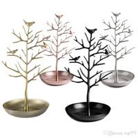 ingrosso albero del supporto dell'esposizione dei monili-Espositore per gioielli da esposizione a forma di uccello