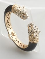 Wholesale high quality cuff bracelet for sale - Group buy GrayBirds High Quality Crystal Enamel Epoxy Animal Bangles Panther Leopard Bracelets Cuff For Women Jewelry GB1188