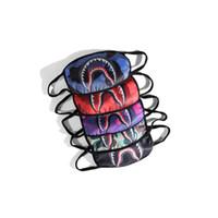 masque d'hiver bouche achat en gros de-Tide Marque Cyclisme Masque pour Unisexe Mode Camo Shark Bouche Imprimé Masques Hiver Chaud Bande Dessinée Coton Masque Pour Le Visage