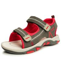 bebek kırmızı sandalet toptan satış-Yaz Plaj Çocuk Ayakkabı Bebek Sandalet Erkek Ve Kız Için Tasarımcı Toddler Sandalet 4-15 Yaş Çocuklar Için Kırmızı Yeşil Mavi