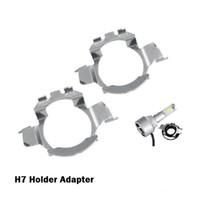 adaptadores para porta-lâmpadas h7 venda por atacado-2 Pcs H7 Carro Levou Adaptadores de Farol Base de Bulb Titulares para BMW E60 E61 para VW MK6 NISSAN QASHQAI lâmpada LED para Audi A3