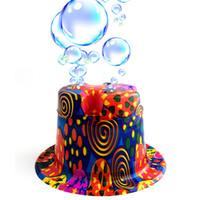 Wholesale Hat World Cup - Minch Novelty Bubble Hat Bubble Gun Bubbles Machine Party Hat Bubble Maker Hats men and women World Cup Russia 2018 Football