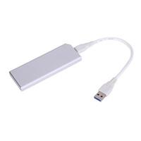 mini sata ssd adaptör toptan satış-Alüminyum USB 3.1 SSD Muhafaza C Tipi Bağlantı Noktası NGFF M.2 B Anahtar SSD Muhafaza SATA 22PIN Adaptör Vaka 22 cm USB Kablosu Ile