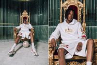hoodie com desconto venda por atacado-Mens Marca Kith Hoodies de Lã Preto Branco Rosa Bordado Hoodies Desconto Roupas de Qualidade Fina Frete Grátis