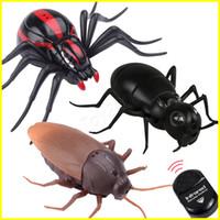 böcek partisi toptan satış-Kızılötesi Karınca Hamamböceği Örümcek uzaktan kumanda oyuncak Sahte Sahte RC Trick Oyuncak Hayvan Oyuncak Parti Şaka Uygulama Bu ...