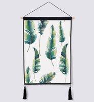 caixas de plantas suspensas venda por atacado-Nórdico tapeçaria decorativa fundo pano de parede pano de fundo pano de tampa de caixa de medidor de pano de algodão pintura de arte de linho