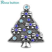 imitation jewelery NZ - 2018 Hot Rivca Snap Button Jewelry NOOSA 18mm Christmas Tree Small Cute For Women Gift Snap Button Fit DIY Bracelet jewelery