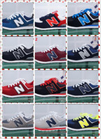 Wholesale Ocean Yellow - New Four 574 generations admission men and women balanced casual sports shoes lovers shoes running shoes US5.5-11.5