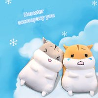 Wholesale genuine software - Genuine Cute Couple Fat Hamster Doll Software Down Feather Plush Toy Customize Girls Child Birthday Gift