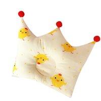 ingrosso letti per neonati per bambini-La bella forma del cotone del cuscino di forma del bambino che forma il cuscino impedisce la biancheria da letto addormentata della ragazza del ragazzo della testa piana del bambino