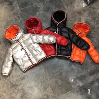 горячие снежные куртки оптовых-Горячая 90% гусиный пух снег носить теплую верхнюю одежду 2018 зимние куртки пальто новый мальчик парка девушки 4 цвета бесплатная доставка