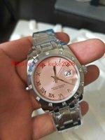 señoras relojes de pulsera mecánicos al por mayor-Reloj de pulsera de alta calidad de lujo Datejust Pearlmaster 81319 36 mm 31 mm de acero inoxidable diamante mecánico automático de las mujeres relojes