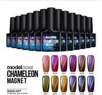 Wholesale newest gel nails for sale - 2018 Newest Chameleon Magnet Nail Gel Soak Off UV LED Gel Polish Lacquer Gel Polish DHL