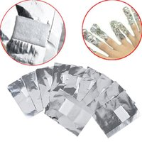 Wholesale Nail Remover Foil Wraps - 100Pcs Lot Aluminium Foil Nail Art Soak Off Acrylic Gel Polish Nail Removal Wraps Remover Makeup Tool Nail Carel Wholesale 3001220