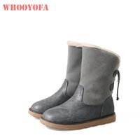 c6507a51321 Hot Sale Brand New Winter Sexy Warm Gray Black Women Snow Boots Breathable  Lady Casual Shoes Low Heels WB66 Plus Big Size 10 43