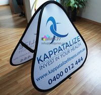 Wholesale Banner Pop Ups - 100X100CM, 120X120CM, 140X140CM Protable Triangle POP up Folding A-Frame Banner, Sports Event Trilateral Popup A Frame Banner Stand Printing