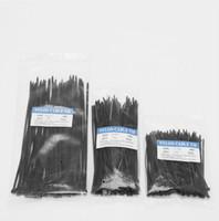 cabo de fecho de correr venda por atacado-100 Pçs / lote Fábrica Padrão Auto-bloqueio de Plástico Nylon Cabo Ties-Fornecimento de Fixadores de Hardware Cabo Fio Zip Tie