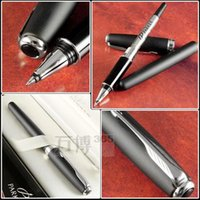 Wholesale parker ink black - Free Shipping Parker Pen Roller Ball Pen Stationery School Office Supplies Brand Sonnet Ballpoint Writing Pens Executive Good Quality Black