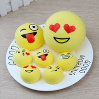 Wholesale wholesale new toys china - Emoji Squishy Slow Rising Toy Cute Bread Cake Pendant Emotion Vent toys Crafts kid gift 10cm 7cm 4cm optional YW482