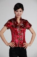 Wholesale Chinese Top Blouse - Shanghai Story new sale high quality chinese traditional clothing cheongsam top woman dragon print Chinese blouses cheongsam top 2 color