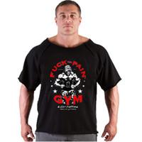 gorilla tanks großhandel-Männer T Shirts Golds Fitness Männer Bodybuilding Gorilla Wear Hemd Flügelhülse Lappen Tops Male Lose Tanks Shirt
