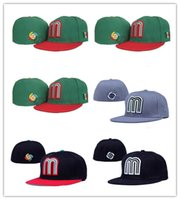 Wholesale cool top hats - Top Sale Wholesale-Cool Mexico Baseball Cap Thousands Style Hat For Men, Cheap Mexico Fitted Hat Women Sport Hats