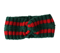 Wholesale gifts for girls for sale - 1pc Designer wool Cross Headband Fashion Luxury Brand Elastic green red Turban Hairband For Women Girl Retro Headwraps Gifts